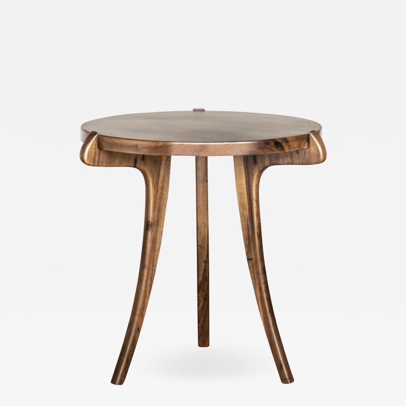 Costantini Design Contemporary Wood Sabre Leg Side Table from Costantini Uccello