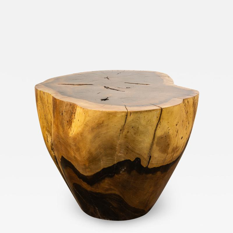 Costantini Design Costantini Hand Carved Live Edge Solid Wood Trunk Cocktail Table 34 In Stock
