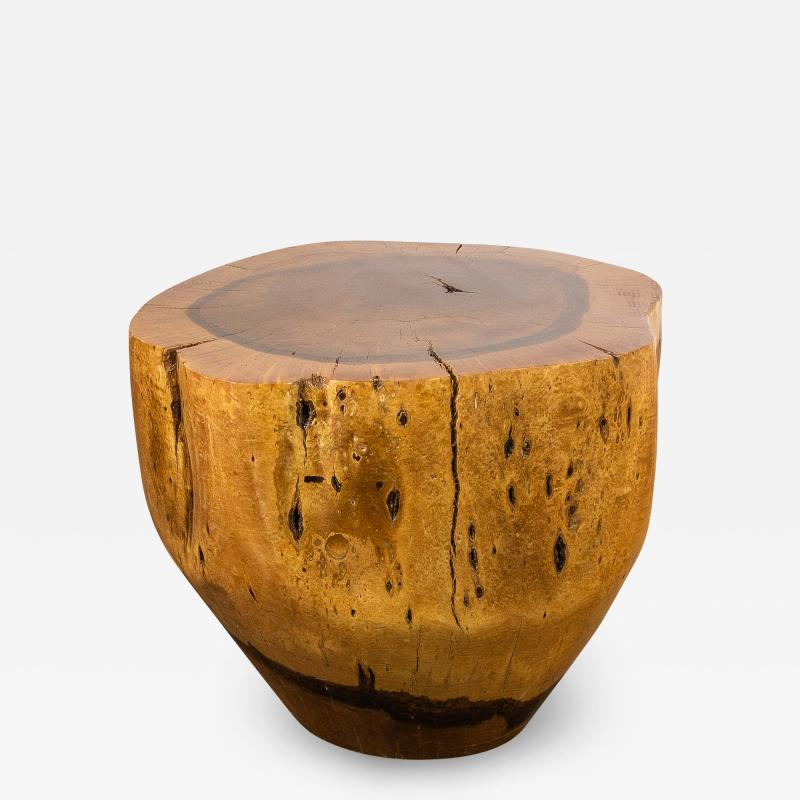 Costantini Design Costantini Hand Carved Live Edge Solid Wood Trunk Cocktail Table 35 In Stock