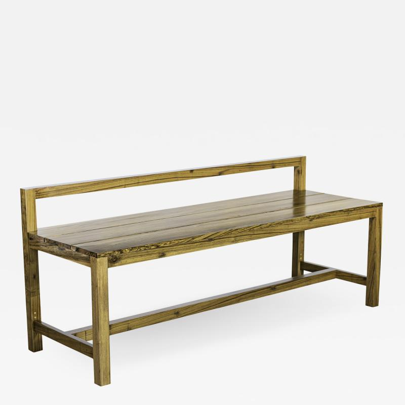 Costantini Design Exotic Solid Wood Modern Minimal Bench from Costantini Serrano