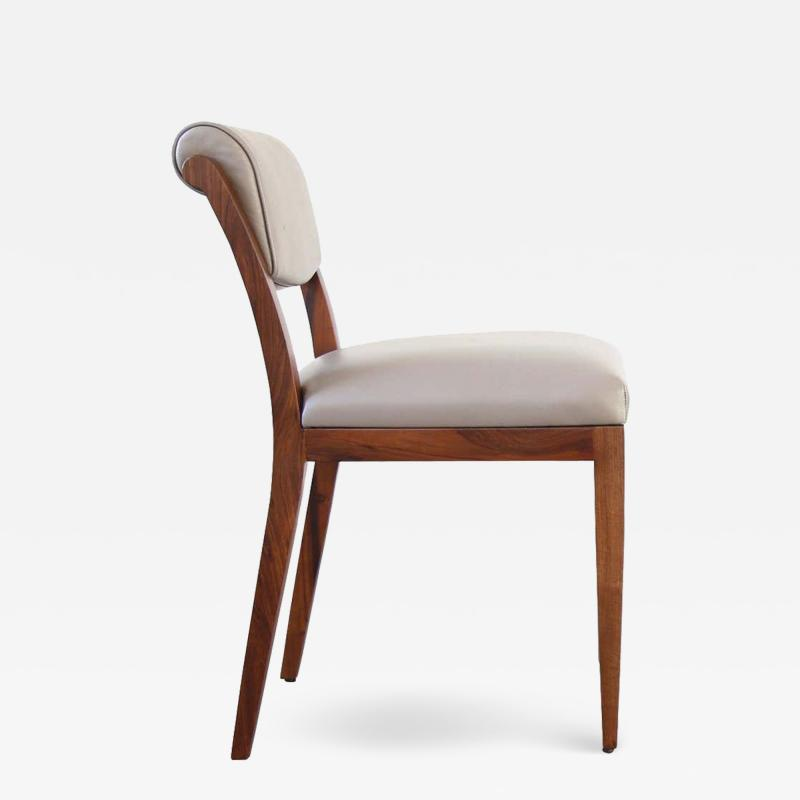 Costantini Design Gianni Contemporary Art Deco Style Leather Dining Chair