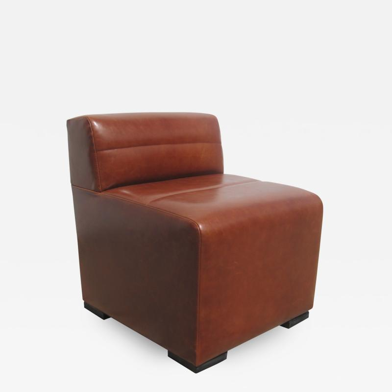 Costantini Design Low Banquette in Argentine Leather from Costantini Santos Customizable