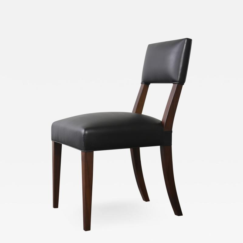 Costantini Design Neto Contemporary Dining Chair from Costantini in Wood Frame and Leather