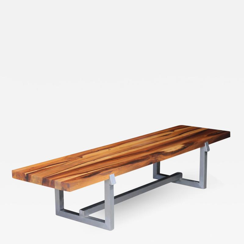 Costantini Design Solid Exotic Wood and Steel Bench or Table from Costantini Donato