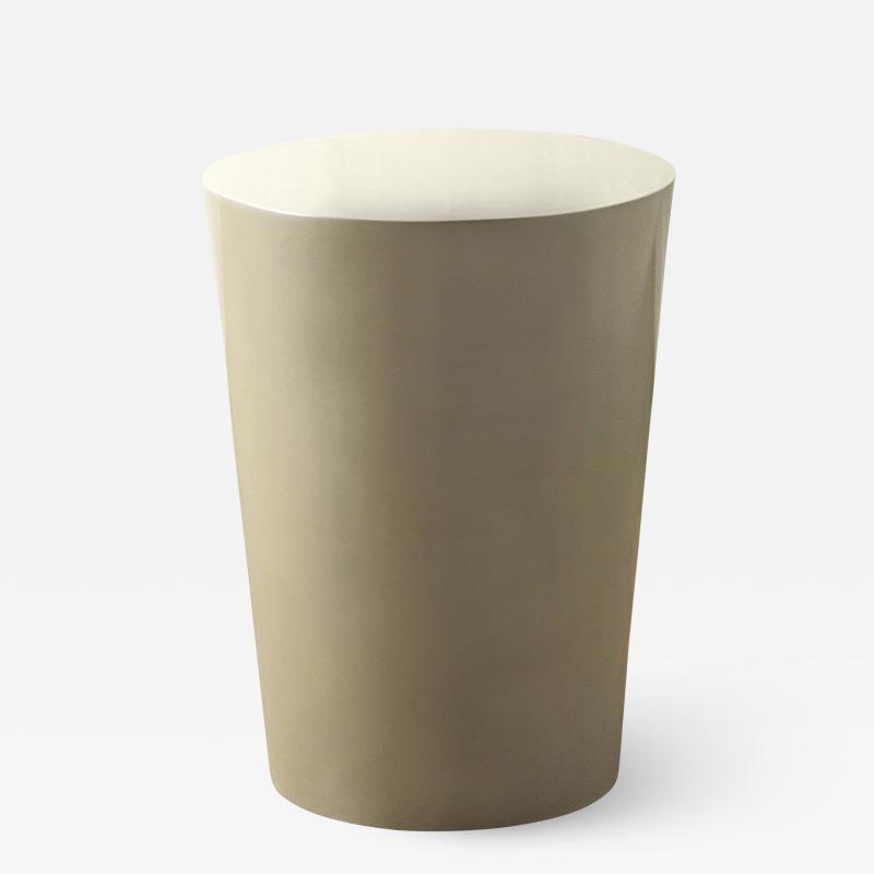 Costantini Design Tromonto Alto Conical Fiberglass Lacquered Side Table from Costantini