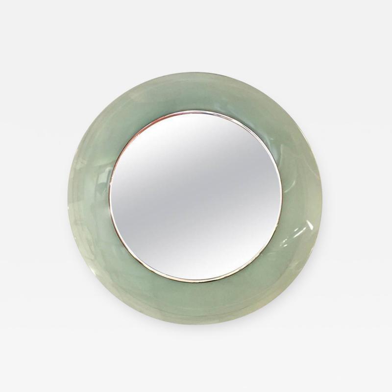 Cristal Arte CRISTAL ART Emerald green crystal mirror Italy circa 1960
