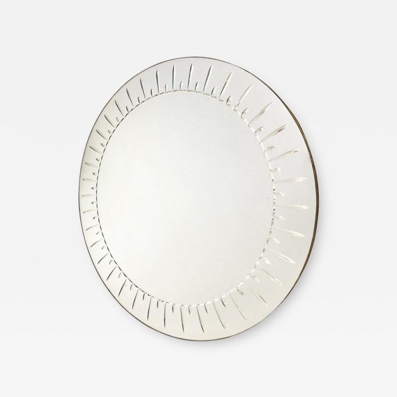 Cristal Arte Large Round Mirror by Cristal Art