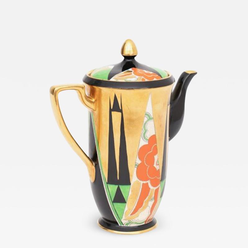 Crown Devon Art Deco Orient Coffee Pot by Crown Devon