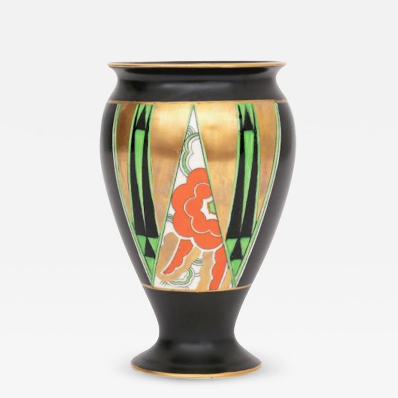 Crown Devon Art Deco Orient Vase by Crown Devon