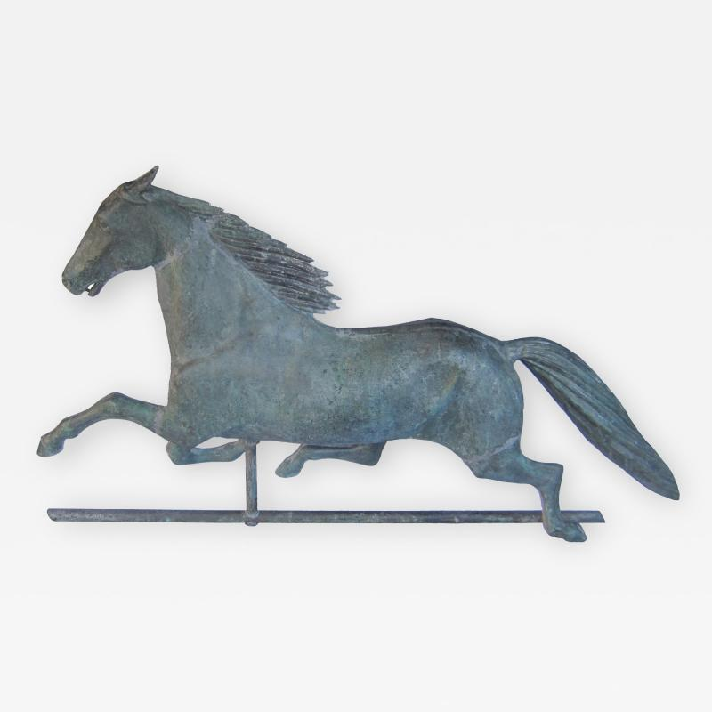 Cushing White 19 Century Dexter Horse Weathervane