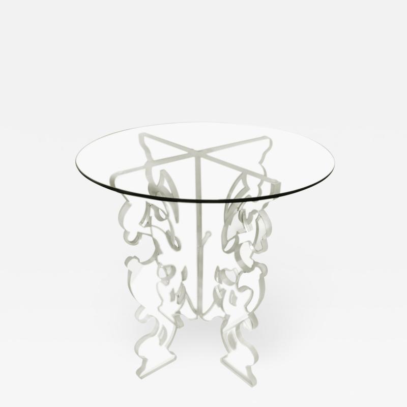 DWM MALOOS Baroque Lucite Base Game Table