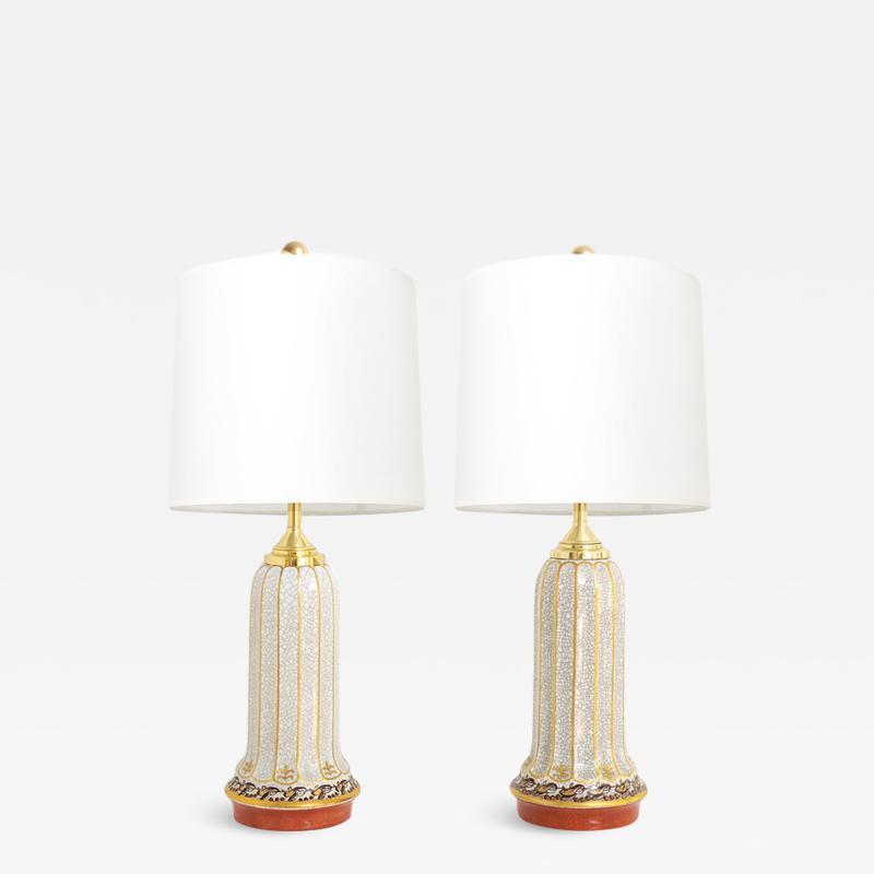 Dahl Jensen DAHL JENSEN DANISH ART DECO PORCELAIN LAMPS