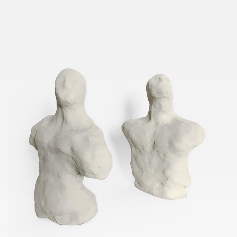 Dainche AWAY Pair of clay sculptures