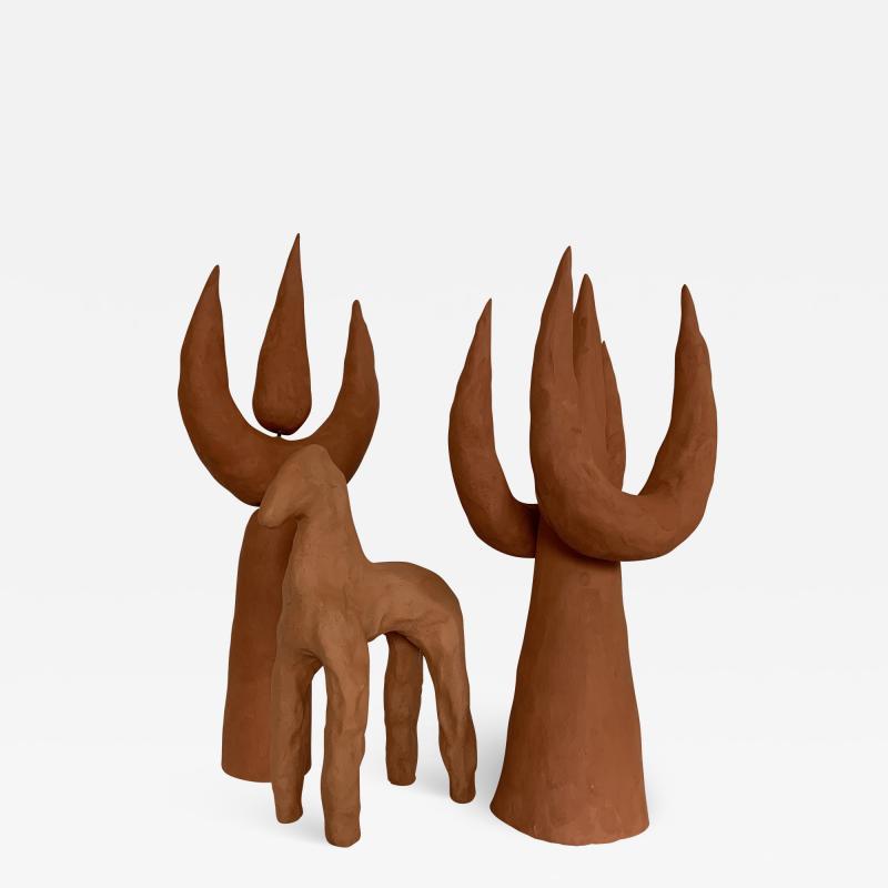 Dainche FLAMES HORSE Red ceramic set