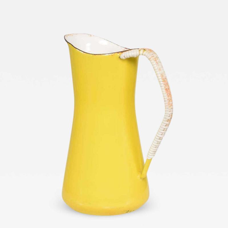 Dansk Jens Quistgaard DANSK Small Sunny Yellow Enamel PITCHER 1960s Denmark