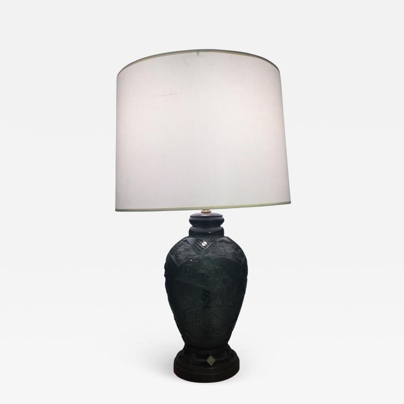 Daum Fantastic Art Deco Daum Nancy Glass Lamp
