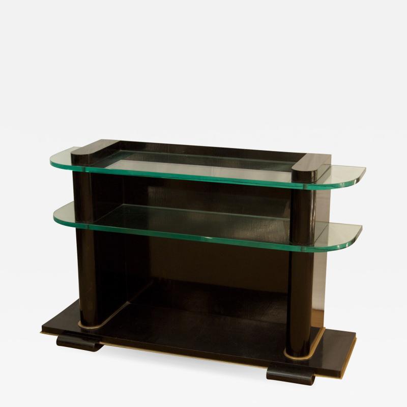 De Coene De Coene Fr res Art Deco Ebonized and Glass Console