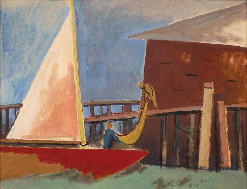 Debra Force Fine Art Coming In 1960 by Herman Maril 1908 1986