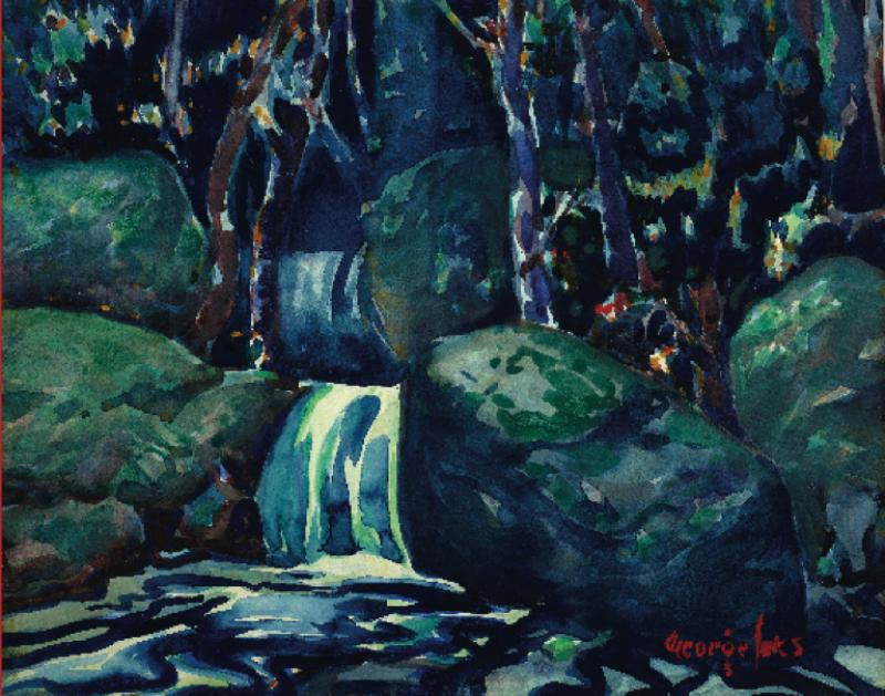 Debra Force Fine Art Waterfall c 1920 25 by George Benjamin Luks 1867 1933