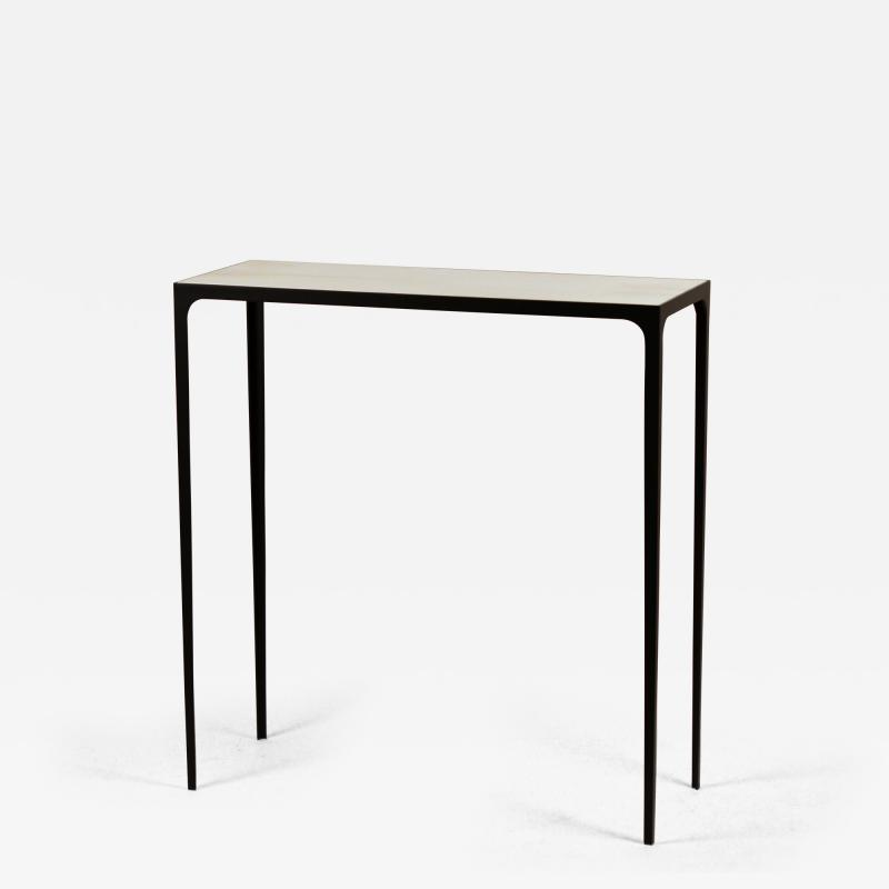 Design Fr res Long Esquisse Wrought Iron and Cream Parchment Console by Design Fr res