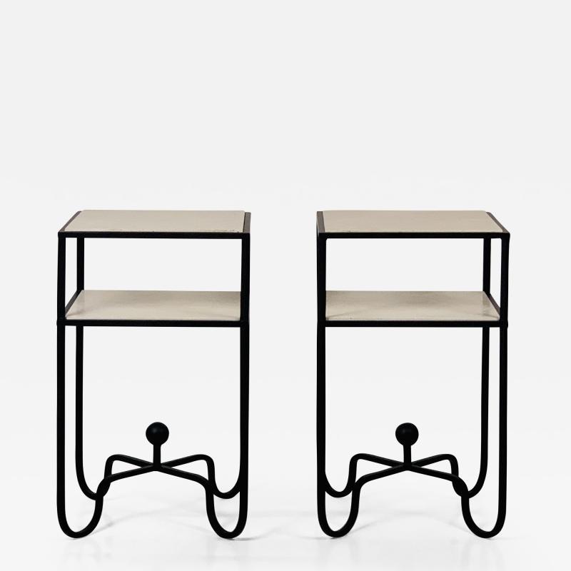 Design Fr res Pair of 2 Tier Entretoise Side Tables by Design Fr res