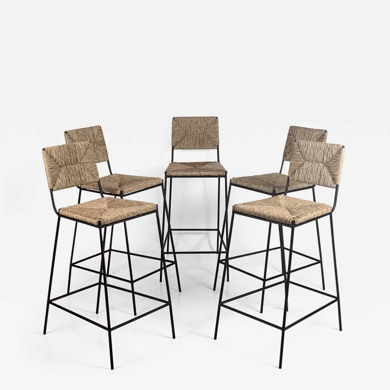 Design Fr res Set of 5 Campagne Counter Height Stools by Design Fr res