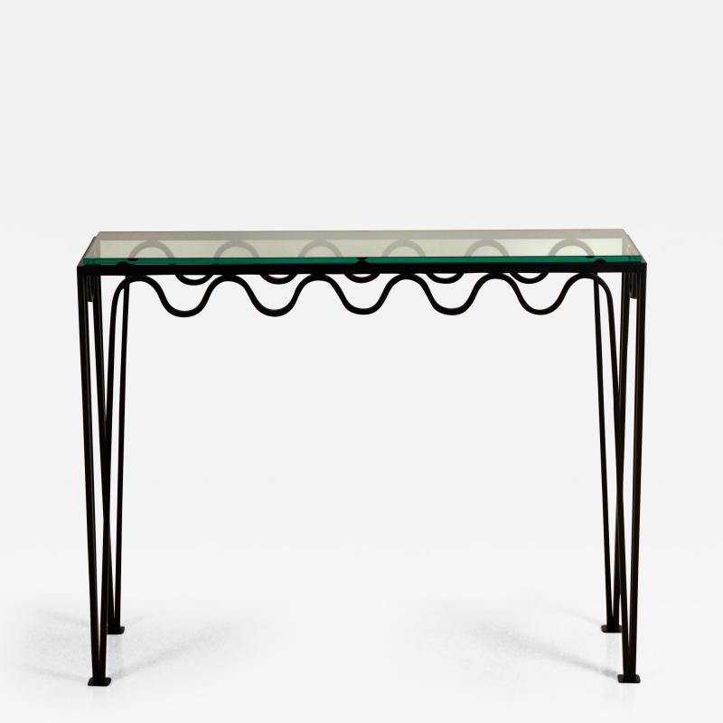 Design Fr res Undulating M andre Wrought Iron and Glass Console by Design Fr res