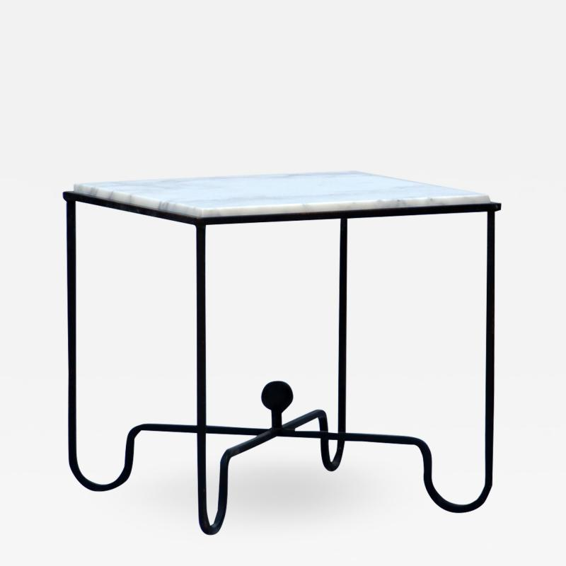 Design Fr res Wrought Iron and Marble Entretoise Side Table by Design Fr res