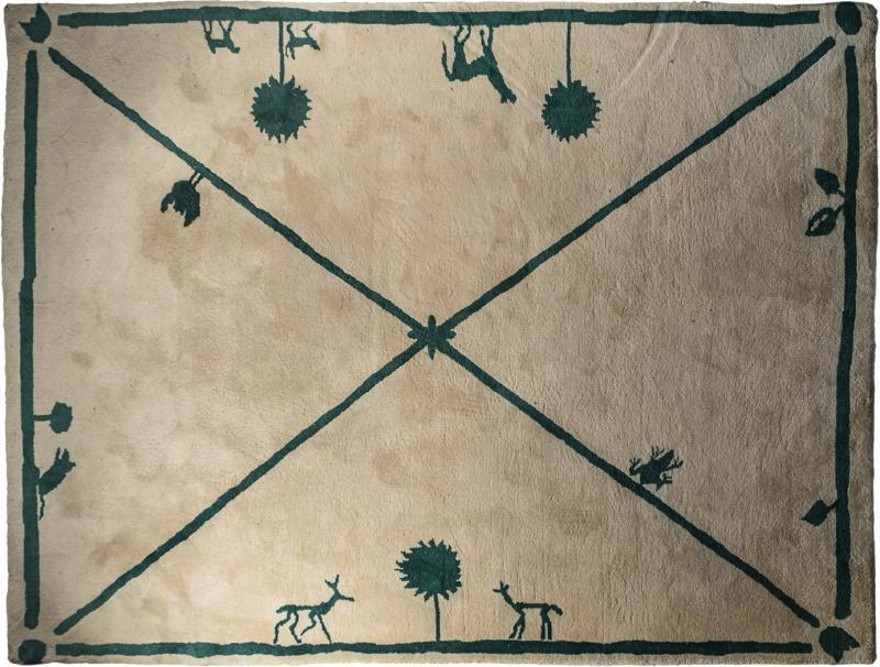 Diego Giacometti Diego Giacometti Carpet Promenade des Amis Signed circa 1984 France