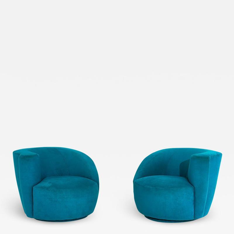 Directional Vladimir Kagan for Directional Nautilus Swivel Chairs 1980