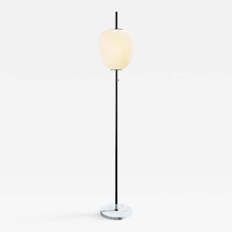 Disderot Large Joseph Andr Motte J14 Floor Lamp in Gunmetal White Marble for Disderot