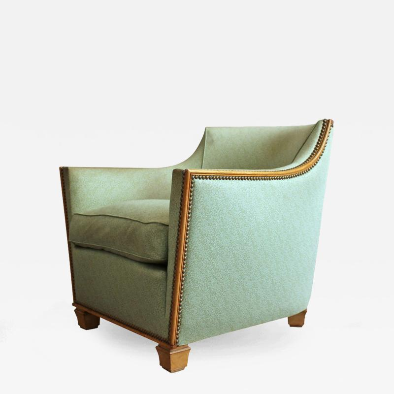 Dominique French Art Deco Armchair by Dominique