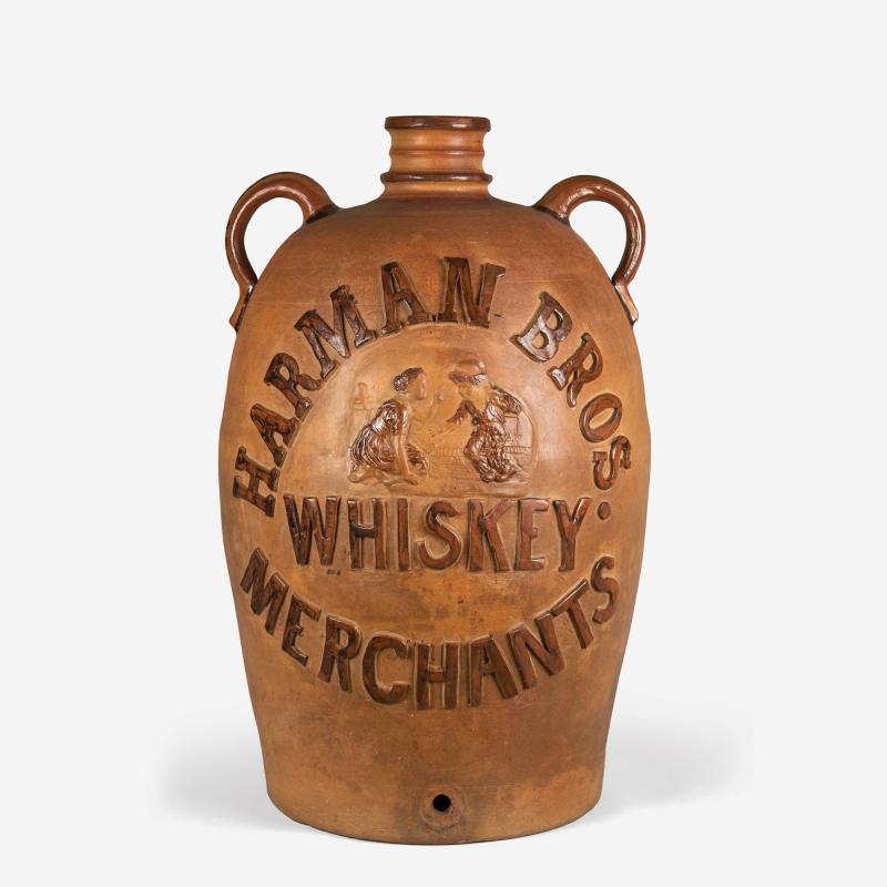 Donaghho Son Harman Brothers Whiskey Merchants Stoneware Cooler