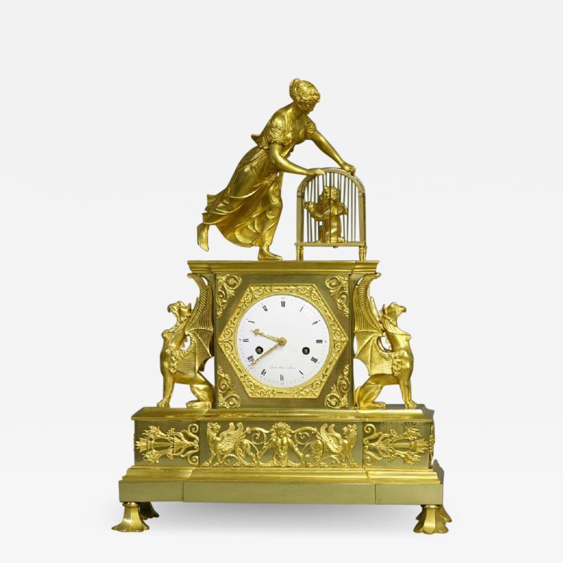 Dubuc Aine Paris c 1810 French Ormolu Mantle Clock