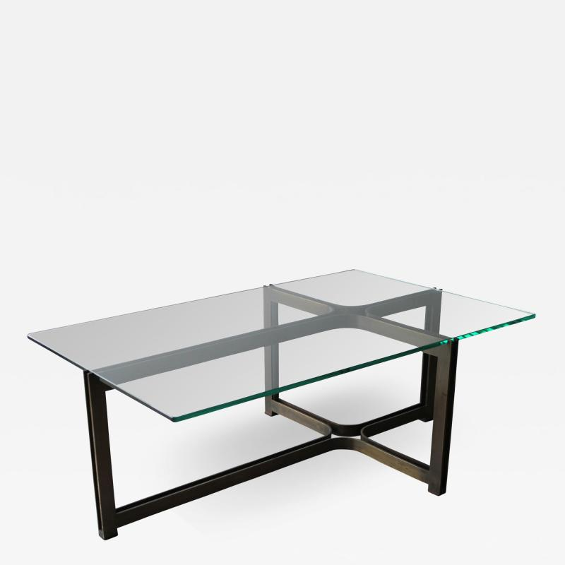 Dunbar Dunbar Coffee Table by Tom Lopinski in Oil Rubbed Bronze and Glass