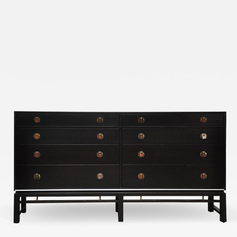 Dunbar Dunbar Dresser by Edward Wormley with Brass and Rosewood Pulls
