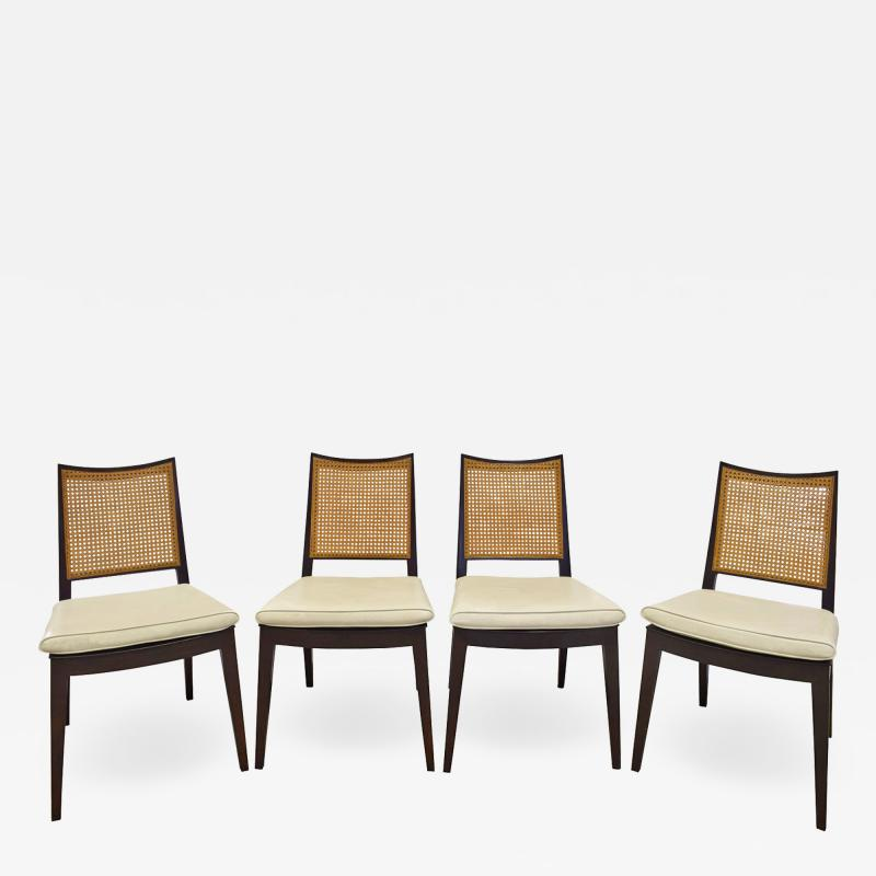 Dunbar Edward Wormley Set of 4 Dining Game Chairs in Mahogany 1963 Signed