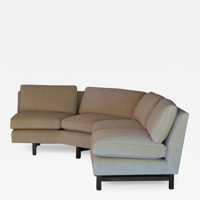 Dunbar Impeccable Reupholstered Dunbar Sectional Sofa by Edward Wormley
