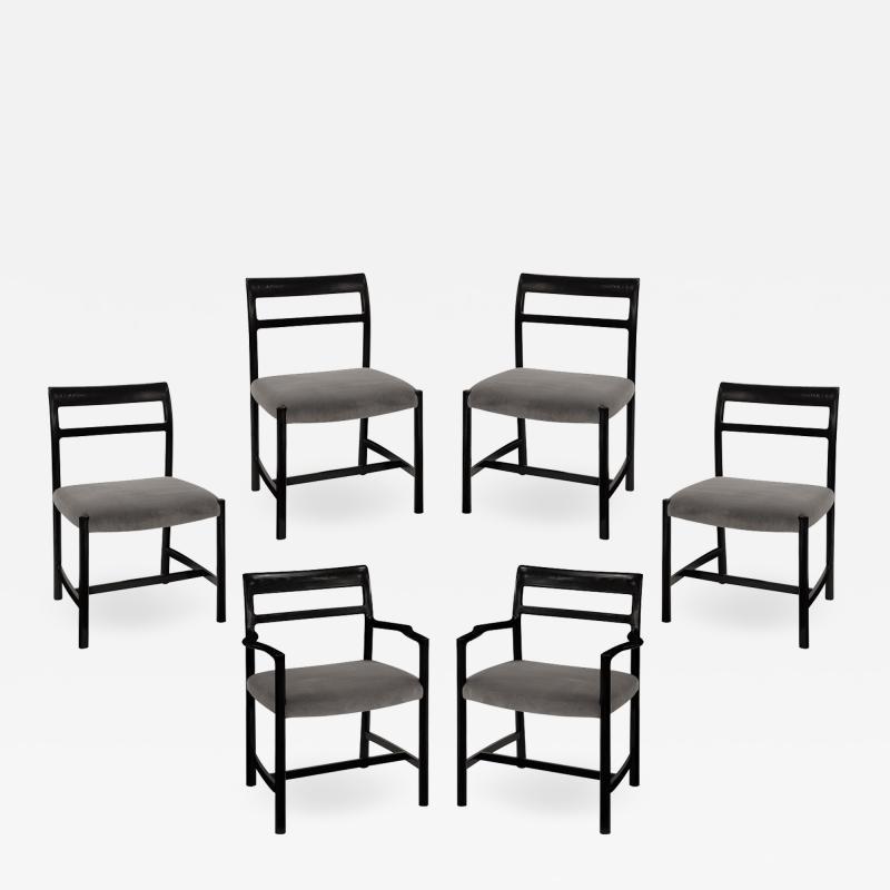 Dunbar Roger Sprunger Set of 6 Dining Chairs for Dunbar 1967 Signed