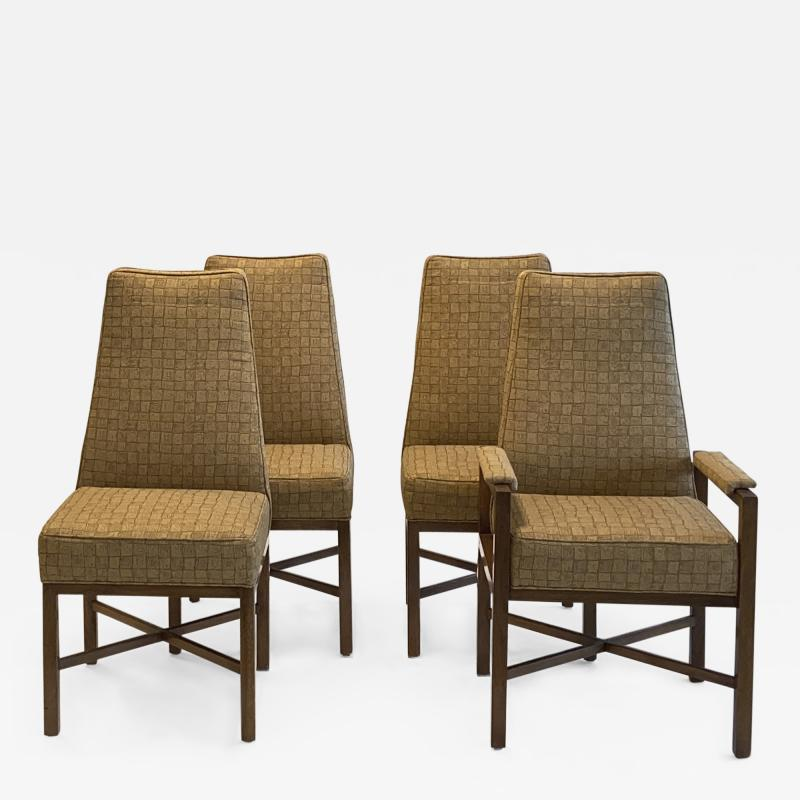Dunbar Set of Eight Upholstered Dining Chairs by Dunbar 1970s