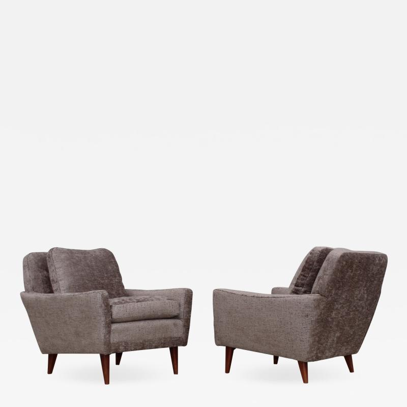 Dux Mid Century Modern Swedish Lounge Chairs By Dux