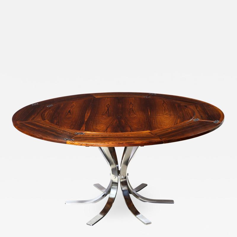 Dyrlund A Danish Rosewood Lotus Design Dining Table by Dyrlund