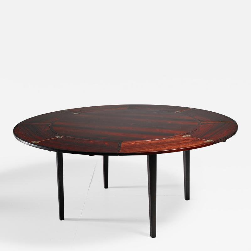 Dyrlund Dyrlund flip flap Lotus dining table Denmark 1960s