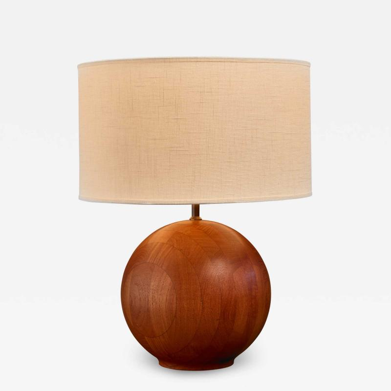 Dyrlund Dyrlund globe shaped wood table lamp Denmark