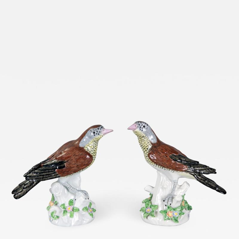 Edme Samson et Cie Porcelain Birds By Samson Pair