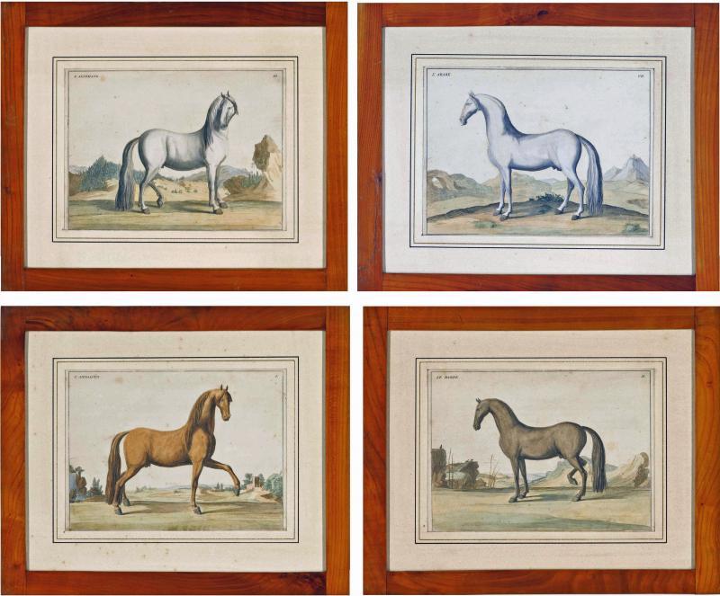 Eisenberg Prints of Four Horses by Baron DEisenberg