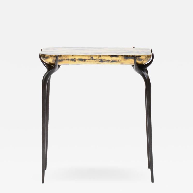 Elan Atelier Jewel Side Table in Gold Leaf