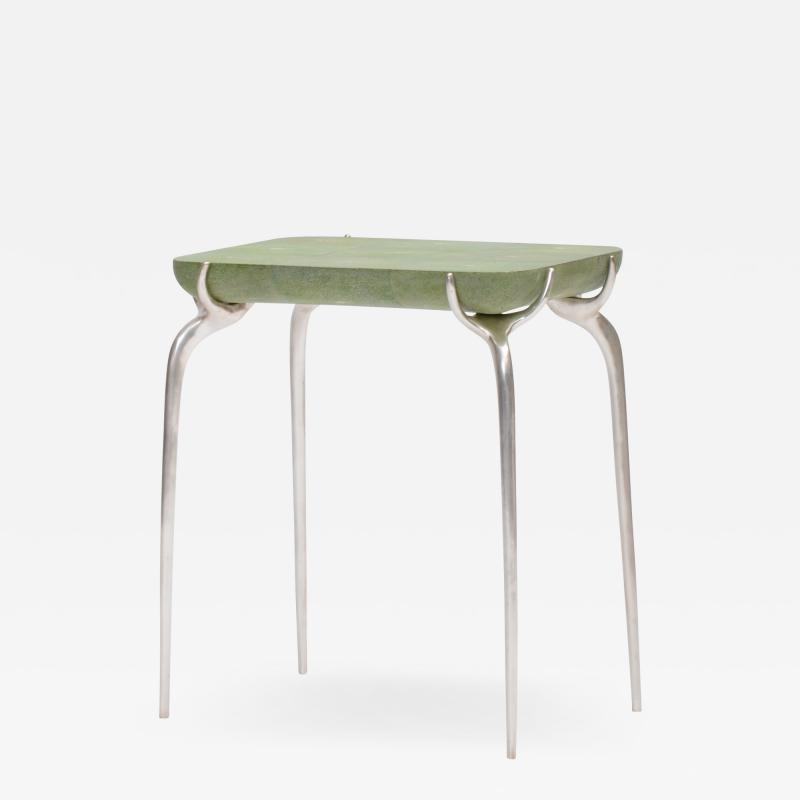 Elan Atelier Jewel Side Table in Shagreen