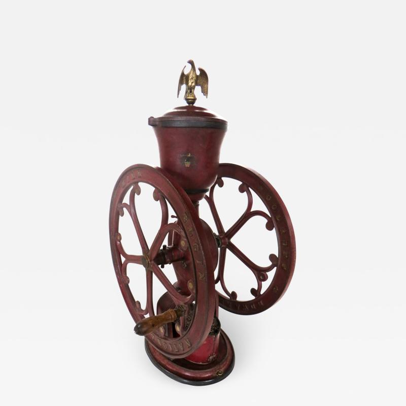 Elgin National Coffee Mill Cast Iron Coffee Grinder Elgin National Coffee Mill American Circa 1900