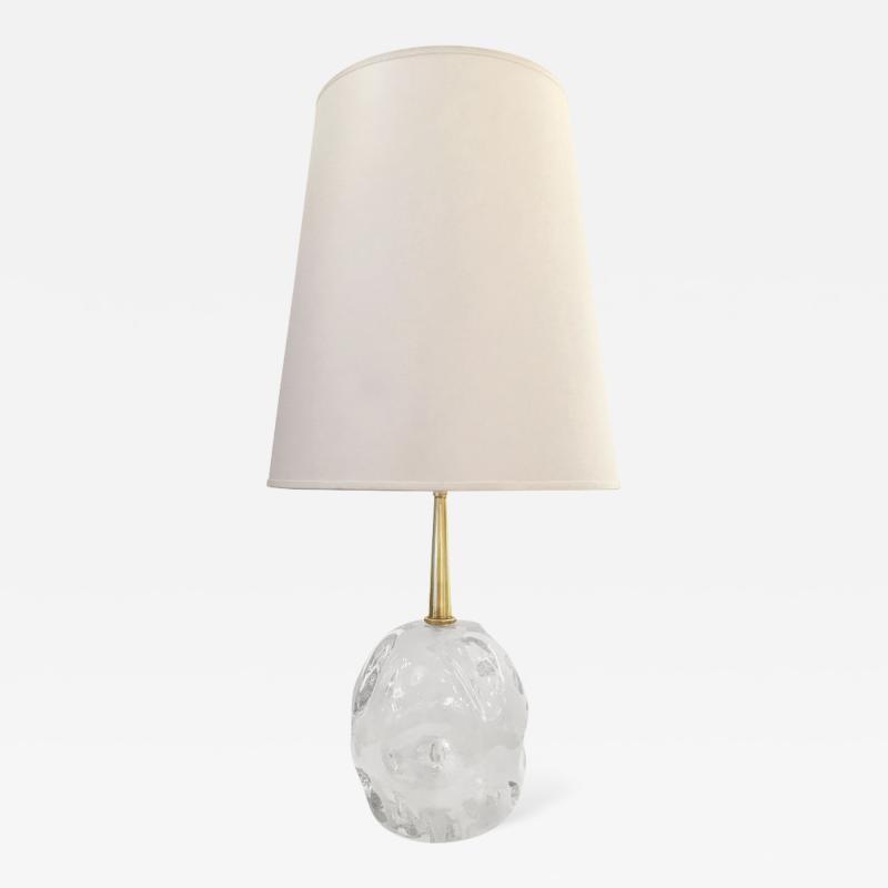 Esperia Cosmo Glass Amber Table Lamp by Esperia